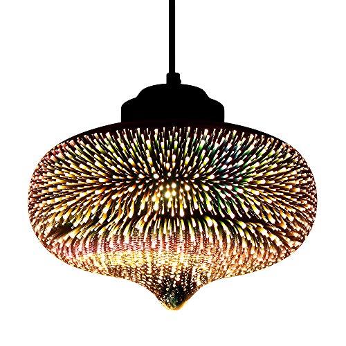 Newrays Modern 3D Glass Colorful Fireworks Lampada a sospensione creativa (P3D010)