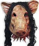HWXDH Máscara De Látex De Cerdo Máscara Unisex Disfraz De Halloween Cosplay Moive Saw Regalo Nuevo, A, A