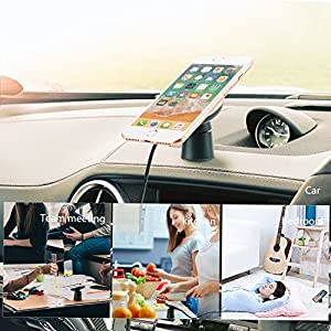 Spedal Wireless Car Charger Magnetic Charging Pad Air Vent Phone Holder Compatible Samsung Galaxy S9 (Plus) Note 8 S8 Qi Wireless Charging Compatible iPhone X/8 Plus
