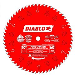 small Finishing Freud D1060X 10 inch x 60 tooth saw blade Diabo