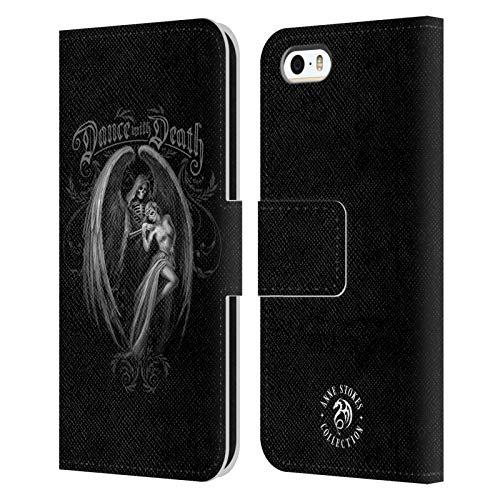 Head Case Designs Licenza Ufficiale Anne Stokes Danza con la Morte Gotico Cover in Pelle a Portafoglio Compatibile con Apple iPhone 5 / iPhone 5s / iPhone SE 2016