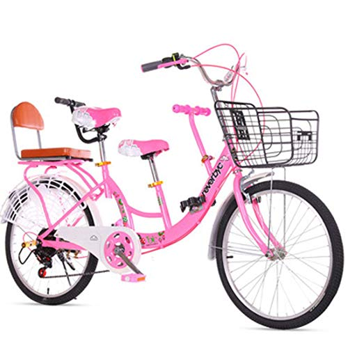 Familie Tandem Bike Erwachsene Kinder Verkehrsmittel Fahrrad Camp Fahrrad Eltern-Kind-Reisen Fahrrad,24inch