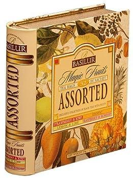 Basilur Tea Book Foil Enveloped Tea Bags Magic Fruit Assorted 2 Gram