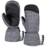 Winter Ski Mittens for Men & Women - Warm Snow Mitts for Cold