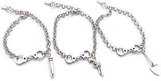 3 Partner In Crime Bracelets, Best Friends Bracelet Set, Friendship Bracelets, Handcuff Jewellery, Sisters Gift, Group of Friends Gift