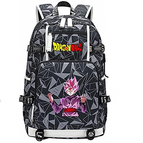 ZZGOO-LL Dragon Ball Son Goku/Vegeta IV/Torankusu Anime Laptop Backpack Bag Travel Laptop Daypacks Bolso Ligero con USB-F