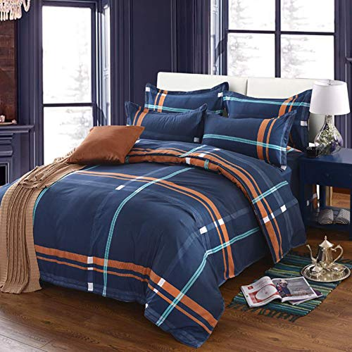 Wenhu Home Textiles Bedding Set Bedclothes Include Duvet Cover Bed Sheet Pillowcase Comforter Bedding Sets Bed Linen,8,King