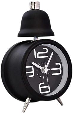 JYXCLO Réveil Sirene Haut analogique Quartz Bureau Fort Horloge à Piles Table Lumineuse Horloges Nuit Chambre Simple Décorati