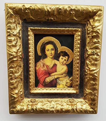Decoración Selli pequeño Cuadro Virgen de Murillo con Marco