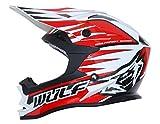Wulfsport Casco da cross Advance Motocross omologato ECE2205   Rosso XL (61-62cm)