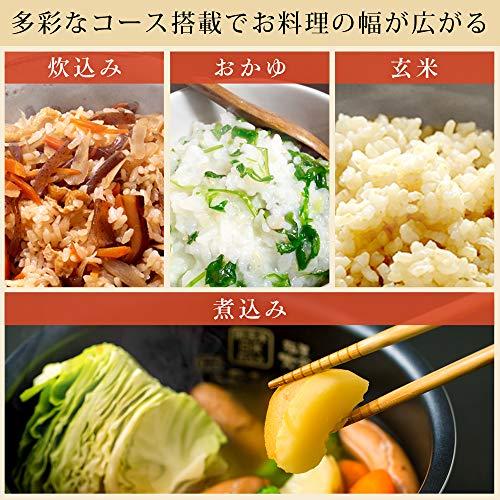 アイリスオーヤマ銘柄炊きIH炊飯器RC-IE30-WPG0.5-3合ホワイト