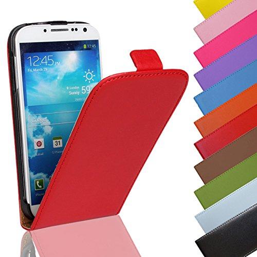 Eximmobile - Flip Hülle Handytasche für Huawei Ascend Y300 in Rot | Kunstledertasche Huawei Ascend Y300 Handyhülle | Schutzhülle aus Kunstleder | Cover Tasche | Etui Hülle in Kunstleder