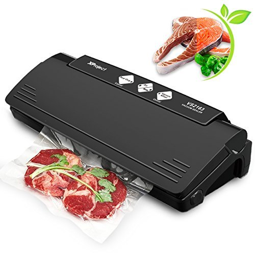 Vacuum Sealer Machine, XProject Multifunction Automatic Sealing System with 10 Sealing Bags, Best Multi-use Vacuum Packing Machine, Dry and Moist Mode for Food Preservation and Sous Vide