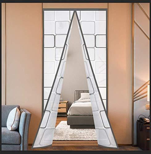 "Insulated Door Curtain, Thermal Magnetic Self-Sealing EVA Door Screen Winter Stop Draft Keep Cold Out Door Cover for Kitchen, Bedroom, Air Conditioner Room,Hands Free,Fits Doors up to 38"" x 83"", Grey"