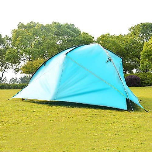 mengzhifei Outdoor Tents Awning Fabric Large Triangular Pergola Water Resistant Sun Protection Tent Beach Tent 2wall deep green