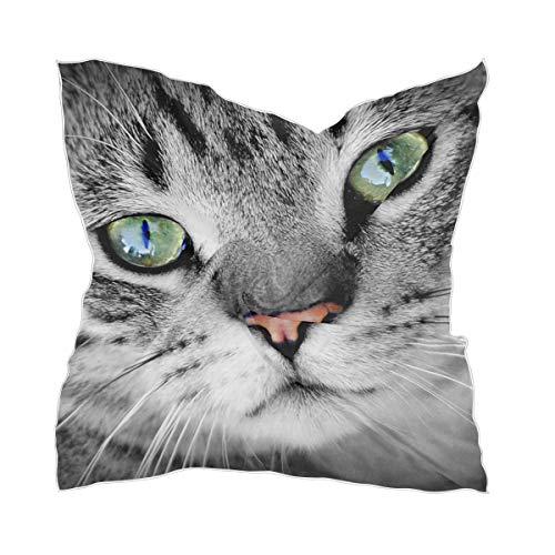 Dunne zakdoek zijden sjaal hoofddeksel Sheer Lady Animal leuke huisdier kat chiffon