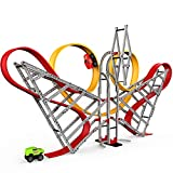 FORTY4 Anti-Gravity Race Track for Kids, Double Loop Car Race Track, STEM Building Toy for Kids in 357 Pcs , Toy Car Set Gift for Boys Girls 3 4 5 6 7 8 Years Old