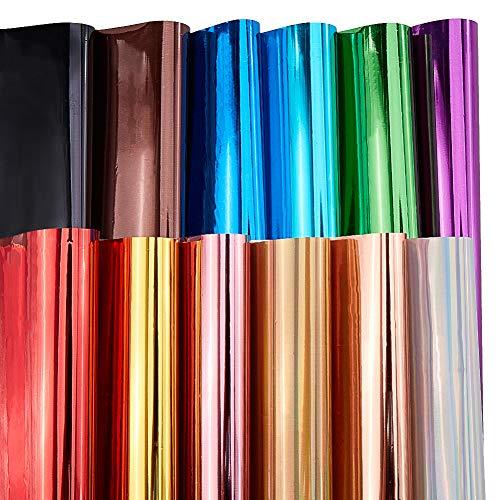 BENECREAT 60PCS Hojas de Vinilo de Transferencia de Calor A4 (28.5x21cm) 12 Colores Surtidos Hojas de Hierro en Vinilo para Camiseta Ropa Decoración de Tela Diseño de Bricolaje