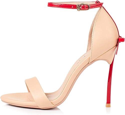 Word with Bow High Heels - Sandalias de 10 CM en Farbe a Juego A ++
