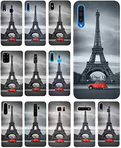 KX-Mobile Hülle für Samsung A51 Handyhülle Motiv 216 Eifelturm Paris Schwarz Rot Auto Premium Silikonhülle SchutzHülle Softcase HandyCover Handyhülle für Samsung Galaxy A51 Hülle