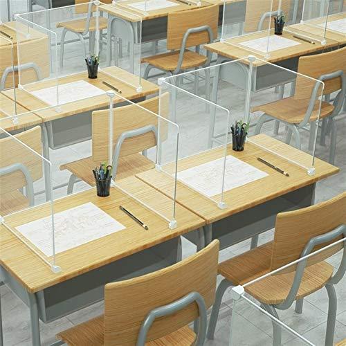 WYDYDM Virus Husten Schild Schutz Sicherheit Bildschirm Ideal for Mitarbeiter Büro-Schreibtisch-Trennwände Kristall 2 Blatt (Size : 30 * 40cm)