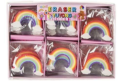 Schnooridoo 12 Radiergummi Regenbogen Rainbow Mitbringsel Kindergeburtstag Posten