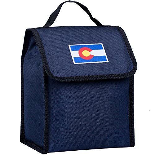Wildkin Kids Insulated Lunch Bag For Boys & Girls, Perfect Size for Packing Hot or Cold Snacks for School & Travel, Lunch Bags Measures 10 x 8.5 x 5 Inches, BPA-free (Colorado Blue)