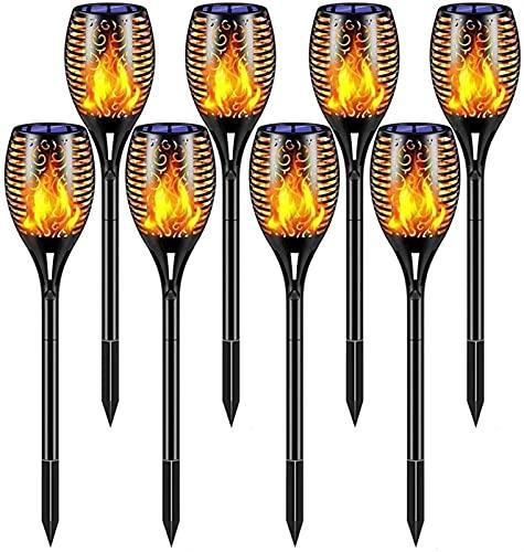 SKYWPOJU Llama Luz Solar de Exterior, 4/6/8 Pack Antorcha Luces Solares Inalámbricas...