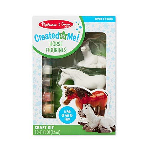 Melissa & Doug Created by Me! Horse Figurines Craft Kit (2 Resin Horses, 6 Paints, Paintbrush)