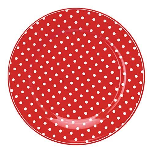 GreenGate Plate Spot red