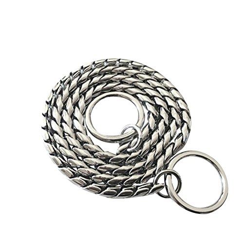 DYBEN Pet Training Snake P Chain Dog Choke Collar (18', Silver)