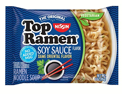 Nissin Top Ramen – Soy Sauce Flavor (pack of 12) Formerly Oriental Flavor, Same Great Flavor