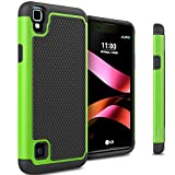 Compatible for LG Tribute HD Case, LG X Style Case CoverON [HexaGuard Series] Slim Hybrid Hard Phone Cover Case for LG Tribute HD/X Style - Green Neon