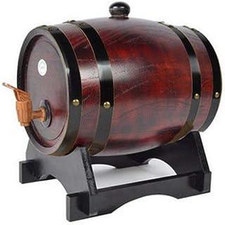 Tonneau de vin, Distributeur de fûts de vin en chêne 10L, stockage du whisky Demijon avec esprit de brassage du vin en boi...