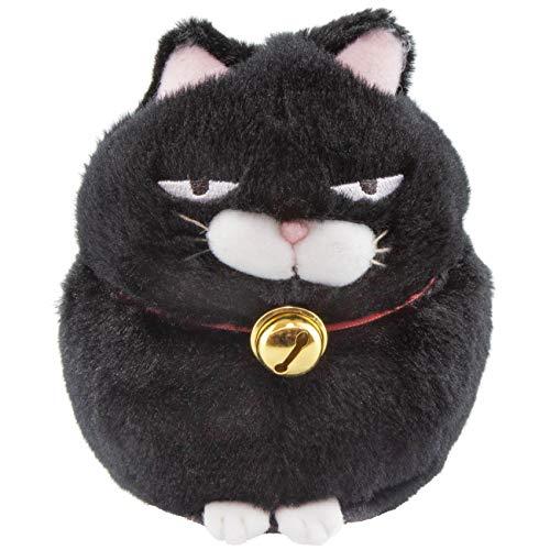 Meralens Higemanjyu Hige Manjyu Kuromame Schwarze Katze Sleepy Cat Plüsch Schwarz Weiß Höhe 13cm Tiefe 13cm Plüschtier Plüschi Katze Kuscheltier