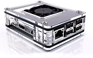 Zebra Black Ice Case with Fan for ASUS Tinker Board and Tinker Board S ~ C4Labs