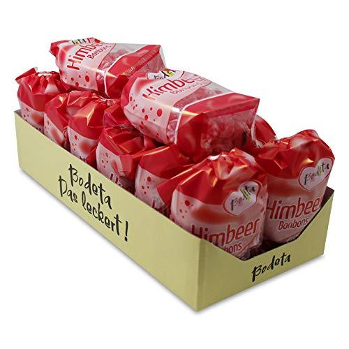 14er Pack Bodeta Himbeer Bonbons (14 x 200 g) im Bodenbeutel, Himbeerbonbons, Lutschbonbons