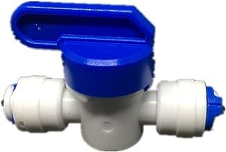 PureSec 2018 HV1414 mini white plastic quick fitting straight inline shut off Ball valve Hand valve for tubing OD 1/4