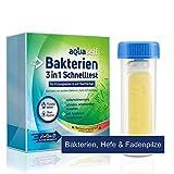 aquaself Bakterien Test für Wasser – 1 Schnelltest – 3-in-1 Test auf Bakterien, Hefen, Pilze für Flüssigkeiten & Oberflächen