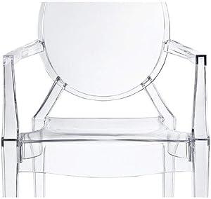 chairs4you Lot de 2 chaises Transparentes inspirees Louis Ghost Salle a Manger Cuisine Dressing Salon Bureau Transparente Fauteuil Cristal