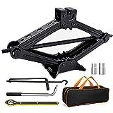 Scissor Lift Jack Max 3 Ton Capacity, Lifting Jack Car Kit with Hand Crank/Wrench/Lug Wrench for Car Truck Sedan