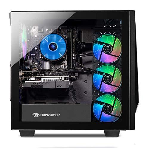 iBUYPOWER Gaming PC Computer Desktop Trace 4 9310 (AMD Ryzen 5 3600 3.6GHz, AMD Radeon RX 5500 XT 4GB, 8GB DDR4 RAM, 240GB SSD, Wi-Fi Ready, Windows 10 Home)