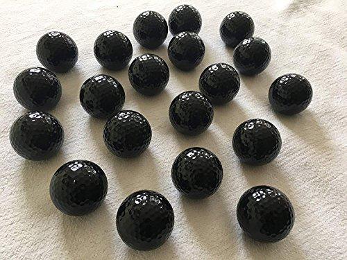 MEIERLE & Söhne 20 Stück Schwarze Golfbälle schwarz Golfball