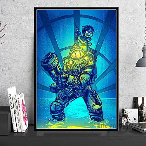 ganlanshu Spielplakate und Drucke Leinwand Bild Wand Wohnzimmer Dekoration Kunst Hauptdekoration,Rahmenlose Malerei-30X45cm