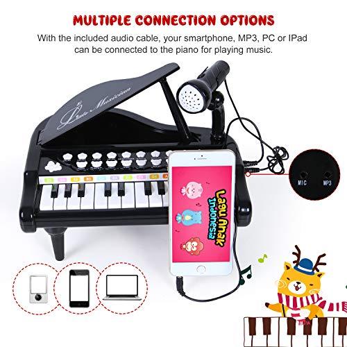 SGILE Jouet Piano Clavier avec 24 Touches Instrument de Musique Électronique...