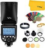 Godox V1-N Flash Speedlight Redondo 1/8000 HSS 76Ws GN92 2.4G TTL y 2600 mAh Lithimu Battery + Godox AK-R1 Accessory Kit de cámara (V1-N+AK-R1)