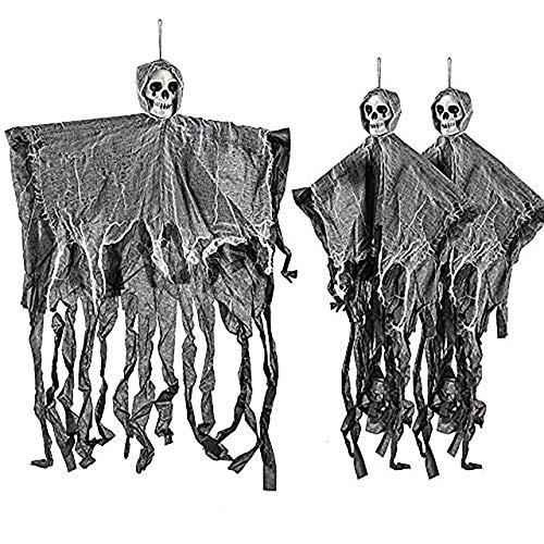 THE TWIDDLERS 3 Halloween Squelettes Effrayants Suspendus Dé