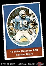 1972 Sunoco Stamps Willie Alexander Houston Oilers (Football Card) Dean's Cards 6 - EX/MT Oilers