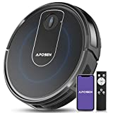 APOSEN Robot Vacuum, Wi-Fi Connectivity, Super-Thin, Quiet, Self-Charging, 2000Pa Powerful Suction, Works with Alexa, Cleans Pet Hairs, Hard Floor to Carpet, A720