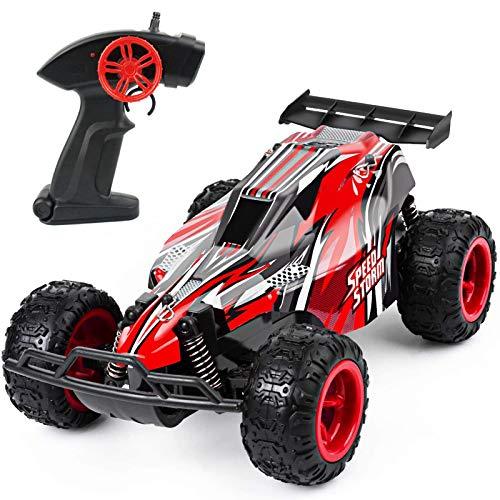 DDYX2020 1: 22-2.4Ghz-Remote Control Race Car, Coche teledirigido, Coches teledirigidos para niños de Alta Velocidad, con 2 baterías de automóvil + 2 baterías AA (Rojo) ✅